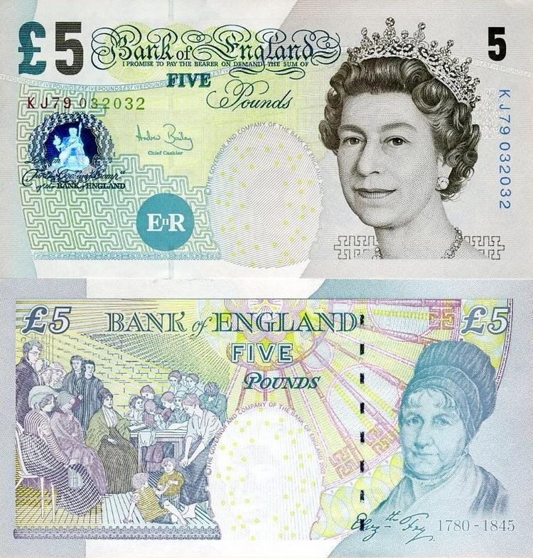 Stary banknot 5 funtów