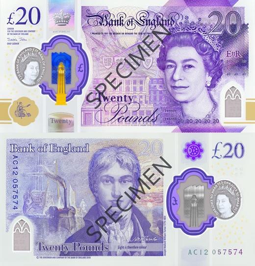Nowe 20 funtów brytyjskich - wszystko, co musisz wiedzieć