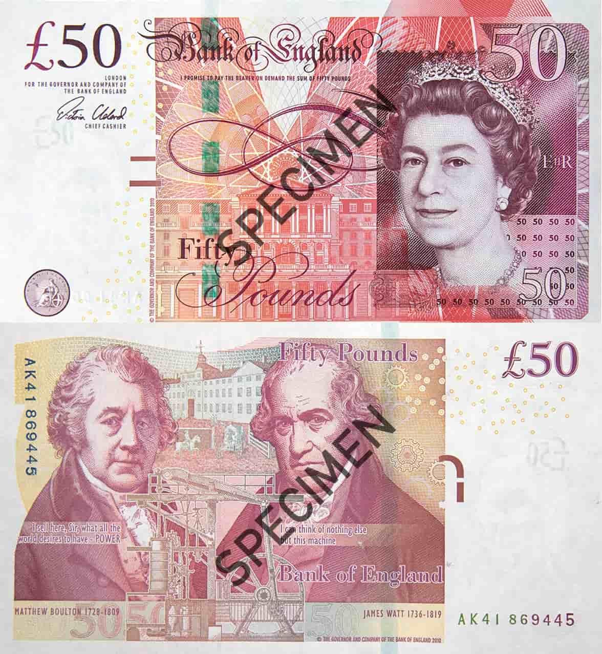Banknot 50 funtów szterlingów